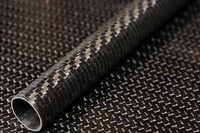 Carbon Fiber Tube Filament Wound 1.075 x 1.152 x 12 inch Sanded Finish