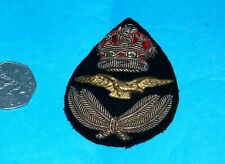 ROYAL FLYING CORPS RARE WW1 KINGS CROWN PILOT OFFICERS PEAR SHAPED CAP BADGE