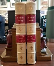 Robin Hood by Joseph Ritson 2 Vols 1887 with 80 Bewick Engravings Fine Binding