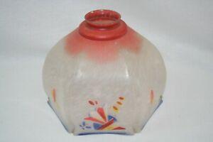 Ricambio lampadario Tulip Glass Lamp Shade/Art Decò/Replacement Glass Lamp