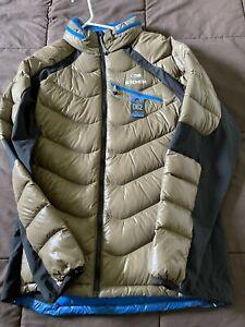 Men's Eider Down Jacket - Brown - Size L - 062