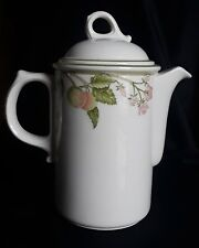 Wedgwood Wild Apple Floral & Fruit Coffee Pot England