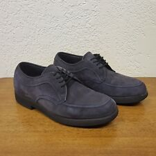 Women's Hush Puppies Purple Suede Leather Casual Oxford Loafer Shoes - 6M