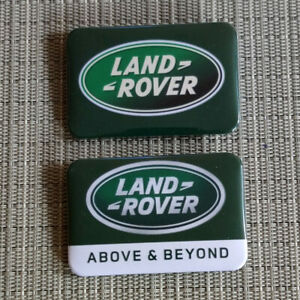 2 Jaguar / Land Rover / Rechteck Button / Pin / Badge / 60/40 mm / Rar / Top