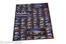 Poster Opel Modellautos (Automodelle) aus Opel Magazin Start 1995, ca. 52x76 cm