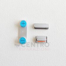 KIT COMPLETO TASTI VOLUME + POWER ON OFF + MUTE PER APPLE IPHONE 4G 4 S PULSANTI
