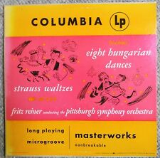 Strauss Brahms Fritz Reiner Pittsburgh Symphony Columbia ML 4116 Very Clean