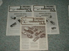 Matchbox Collectors Club Newsletter Magazine Volume 13 num 4 Volume 14 num. 4 x2