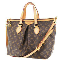 LOUIS VUITTON Palermo PM Shoulder Hand Bag Monogram M40145 France Auth #NN395 S