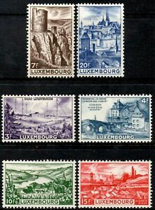 Luxembourg 1948-55 Tourist Publicity  Part Set to 20f. SG.505b/509 Mint (Hinged)