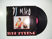 """DJ Miko – Rhythm - Disco Mix 12"""" 33 Giri Vinile ITALIA 1994 Euro House"""