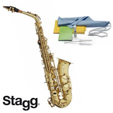 Stagg WS-AS215 Eb Alto Saxophone GOLD with Case, Mouthpiece, Reed, Cleaning Kit