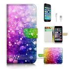 iPhone 7 (4.7') Flip Wallet Case Cover P2405 Abstract Raindrop