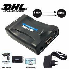 Scart zu auf HDMI Konverter Wandler AV Scaler Converter Adapter HD-DHL