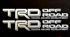 WHITE TOYOTA RACING TRD TRUCK OFF ROAD 4x4 TUNDRA TACOMA DECAL STICKER VINYL SUV