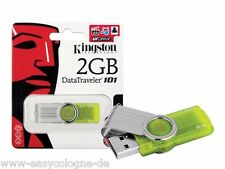 Kingston USB flash drive DataTraveler 101 g2 2gb LIME-VERDE (dt101g2/2gb)