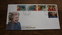 GIBRALTAR STAMP ISSUE FDC, 1992 40th ANNIV OF QUEEN ELIZABETH SET OF 5 STAMPS