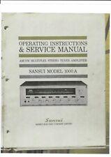 Sansui Service Manual und user manual Bedienungsanleitung für Sansui 1000 A