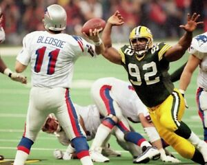 REGGIE WHITE DREW BLEDSOE 8X10 PHOTO GREEN BAY PACKERS PICTURE FOOTBALL PATRIOTS