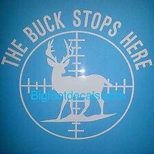 LARGE Buck Stops Here Deer Hunter Gun Scope Duck Sticker car truck Sticker decal