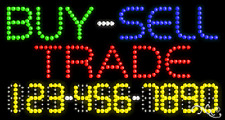 """New """"Buy-Sell Trade"""" 32x17 w/Your Phone Number Solid/Animated Led Sign 25053"""