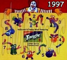 TANGLE Twist-a-Zoid toy set (all 8) - McDonald's/Nickelodeon (1997) *NIOP