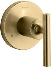 KOHLER Purist Transfer Valve Trim w/ Lever Handle Vibrant Modern Brushed Gold