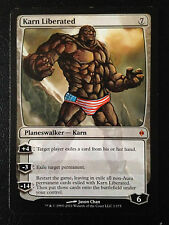 MTG ALTERED ART HAND PAINTED KARN LIBERATED THE THING