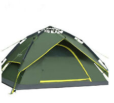 Automatic Hydraulic Outdoor Double Layers Camping Tent for 2-3 Persons (Green)
