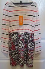 NWT Gymboree Bright Rose Striped MIX N MATCH Dress Size 10 Pink Lilac Gray