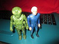 Vintage 1978 Battlestar Galactica Ovion & Captain Adama figures