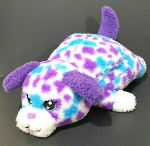 "Russ Hug A Pet Puppy Dog Plush 22"" Purple Muff Spotted Toy Valentine Vintage"