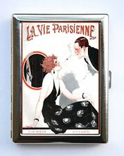 Art Deco La Vie Parisienne Flapper Cigarette Case id case Wallet
