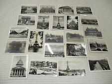 VINTAGE: lot de petites cartes photos Paris état voir photos