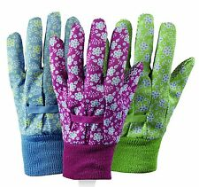 Briers Triple Pack Cotton Gloves Falling Flowers House Garden