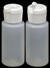 Plastic Bottle w/White Turret Lid, 1-oz., (HDPE), 12-Pack, New