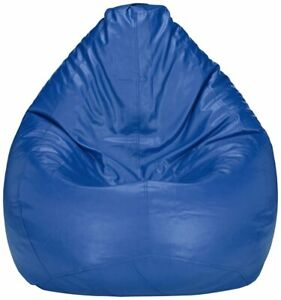 Bean bag Cover Leather Sofa Chair without Bean Blue for luxuries Decor gift