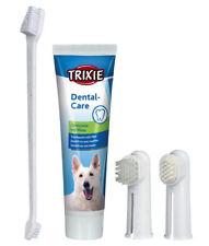 TRIXIE Zahnpflege-Starter-Set Hunde Zahnpflege Zähne Zahnpasta und Zahnbürsten