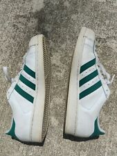 adidas superstar men 9.5 Green stripes w/Gold stiched tongue great shape