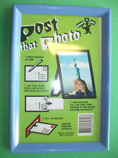 """Garmond 4"""" x 6"""" POST-A-PIC PICTURE FRAME Mail Framed Photo! Pastel Purple/Lilac"""