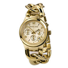 Michael Kors MK3131 Women's Runway Twist Bracelet Chrono Watch