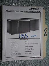 Bose 301 series III service manual original repair book stereo speaker system