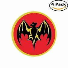 Bacardi Rum Alcohol Red Decal Diecut Sticker 4 Stickers