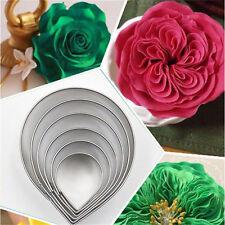 6PCS/Set Rose Petal Mold for Cake Decor Fondant Sugarcraft Cutters Tools Mould 5