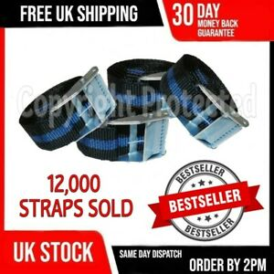 4 CAM BUCKLE TIE DOWN STRONG STRAPS ROOF RACK LUGGAGE TRAILER CARGO LONG NYLON