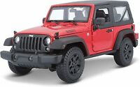 Diecast Model Car 1:18 Scale - Maisto Red 2014 Jeep Wrangler Special Edition