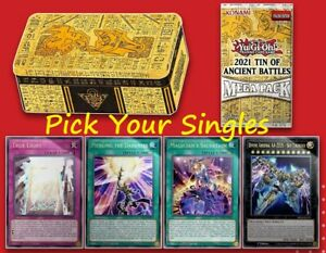 YuGiOh! 2021 Mega Tin of Ancient Battles MP21- Secret & Ultra- Pick Your Singles