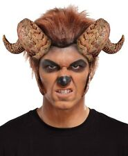ADULT TWISTED BULL RAM GOAT BEAST HORNS CURLED DEMON DEVIL COSTUME HEADPIECE