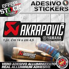 Adesivo / Sticker AKRAPOVIC YAMAHA FACTORY RACING 200°gradi EXAUST TOP QUALITY !