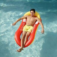 Inflatable Float Swimming Pool Lounger Hammock Mattress Mat for Swimming Pool